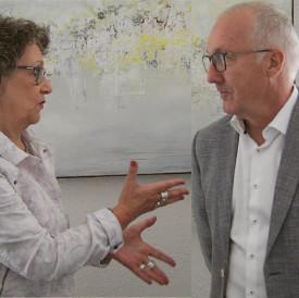 Kathrin Hilber und Walter Vogel im Gespräch